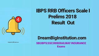 BPS RRB Officers Scale I Prelims 2018 Result out check now- Dream Big Institution