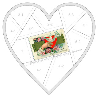 Do Not Doubt My True Intentions, Only Be My Valentine Crazy Quilt Block from Vintage Vogue
