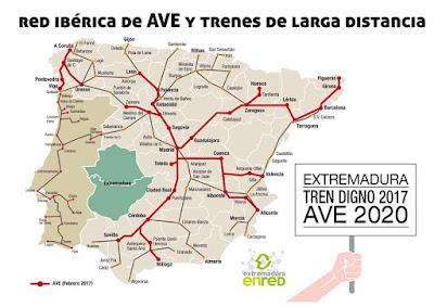 Corredor del suroeste peninsular. AVE en Extremadura