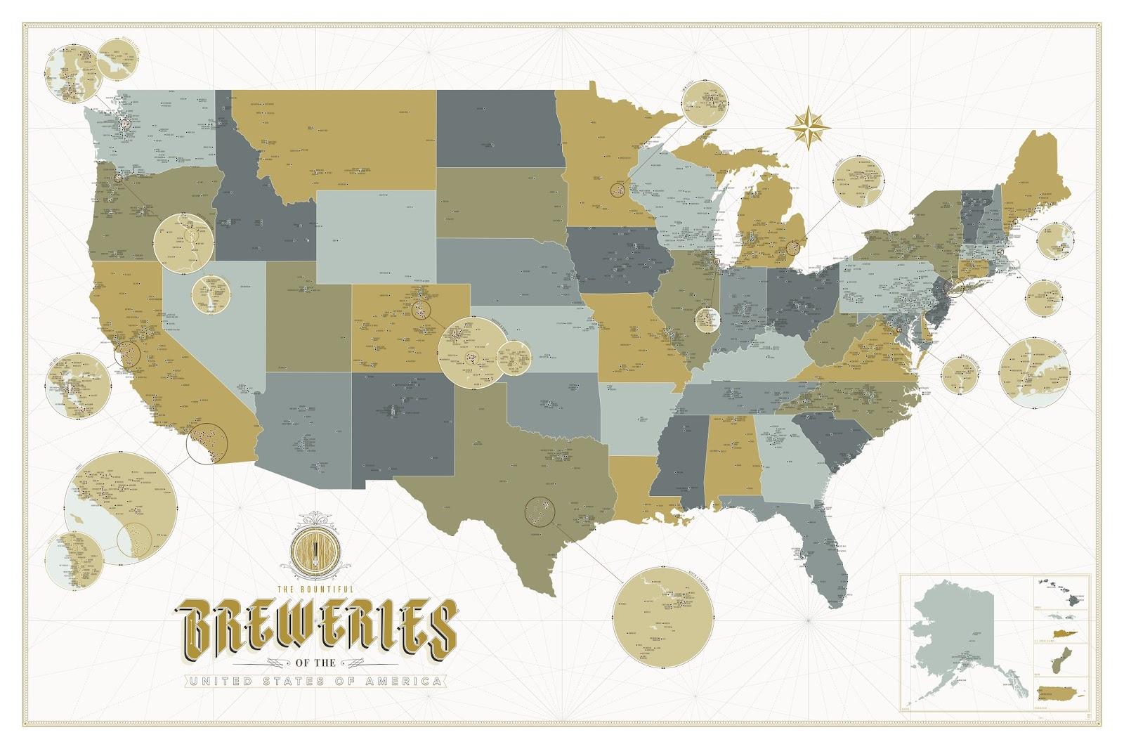 Gadgets de Cerveja 120: Mapa Cervejeiro
