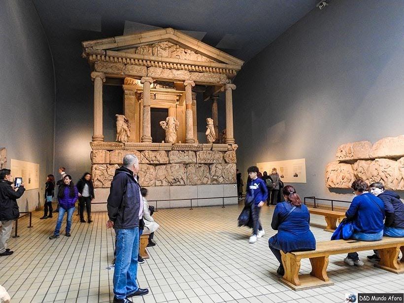 Parte do Pantheon na Seção grega do Museu Britânico em Londres