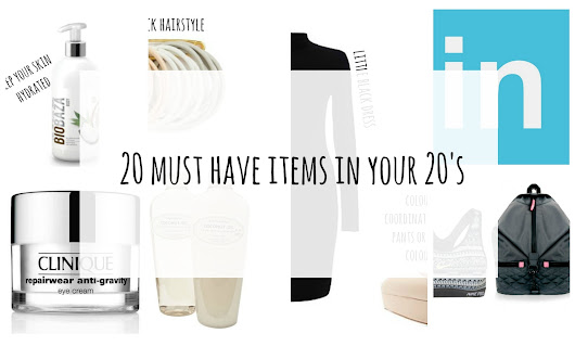 20 must have items in your 20's