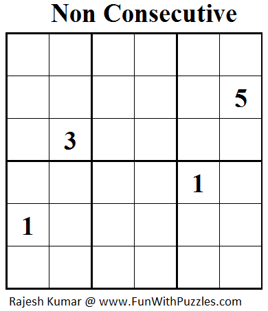 Non Consecutive Sudoku (Mini Sudoku Series #30)