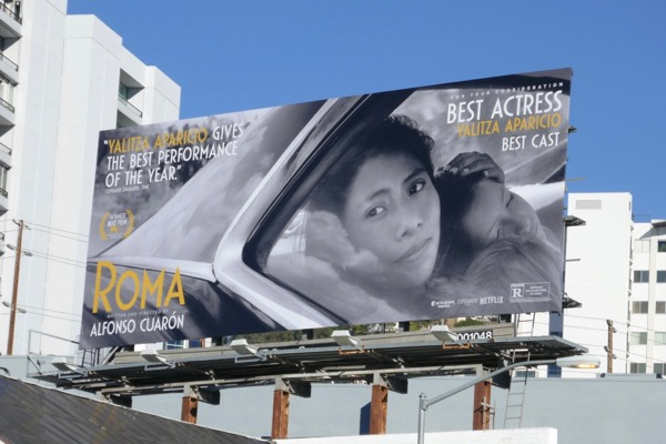Roma movie FYC billboard