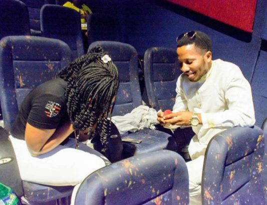 Pastor Proposes To His Girlfriend At The Cinema In Warri ( Photos ) Hg