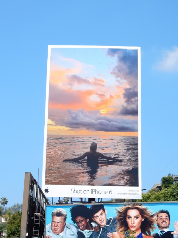Shot on iPhone 6 ocean sunset billboard