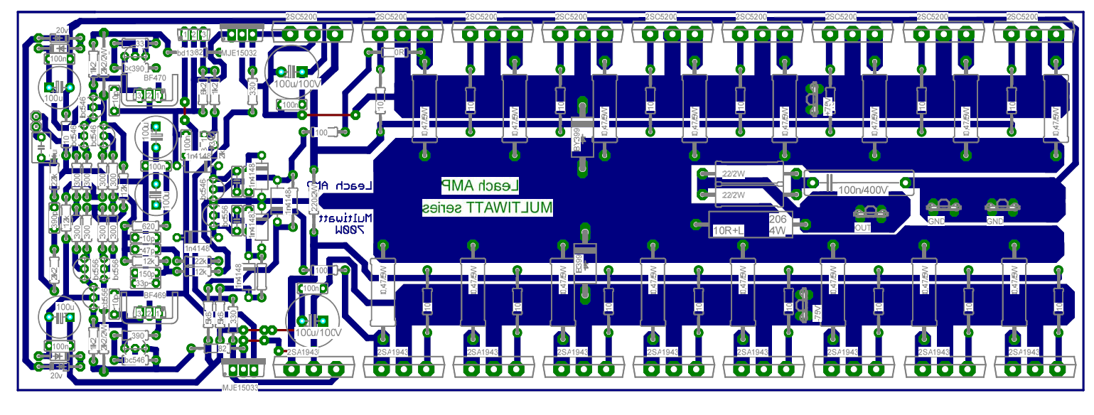 hight resolution of layout pcb power amplifier 2000 watt 700w power amplifier with 2sc5200 2sa1943 other projects pinterest
