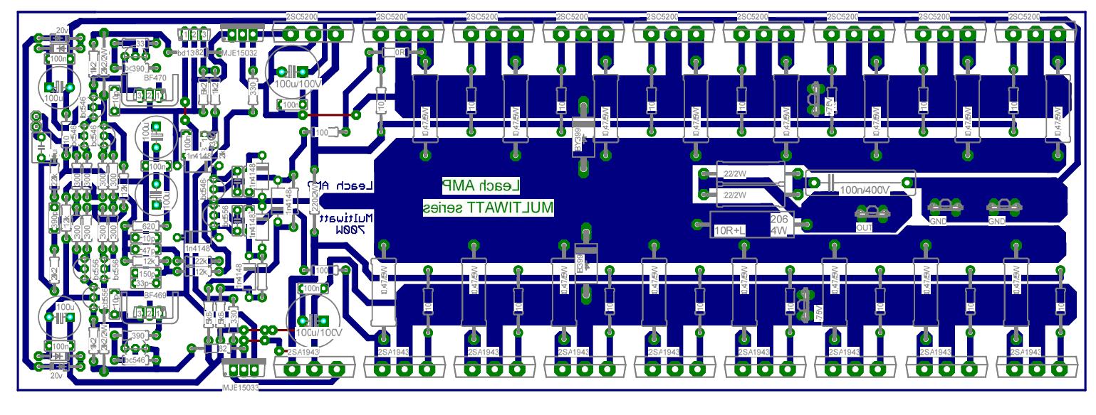 1000w Amplifier Circuit Using Transistor Electro Circuit Schema Amp Datasheet 700w Leach Amplifier