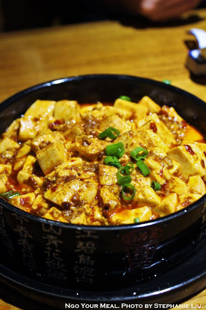 Ma Po Tofu with Chili Minced Pork at Szechuan Mountain House