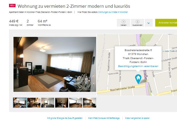 wohnung zu vermieten 2 zimmer. Black Bedroom Furniture Sets. Home Design Ideas