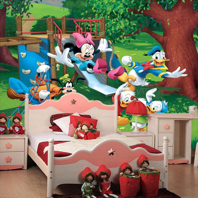 Lasten Tapetti Valokuvatapetti Lapsia Disney mikki hiiri  lasten tapetti lastenhuoneeseen