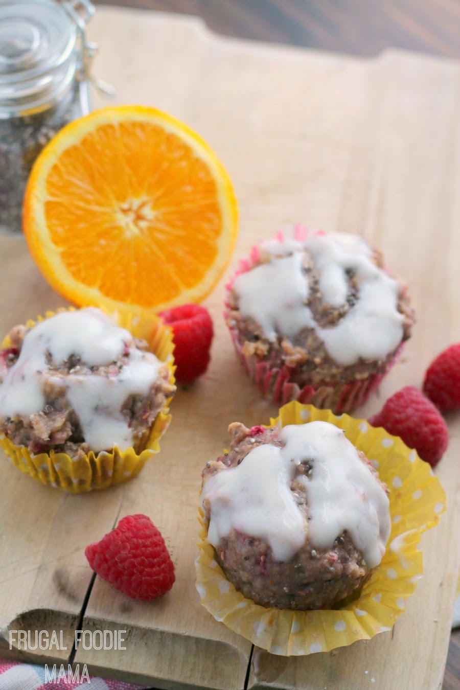 Muffins meet scones in these bright, moist, and healthy Raspberry-Orange Chia Seed Scuffins- the perfect way to start your day!