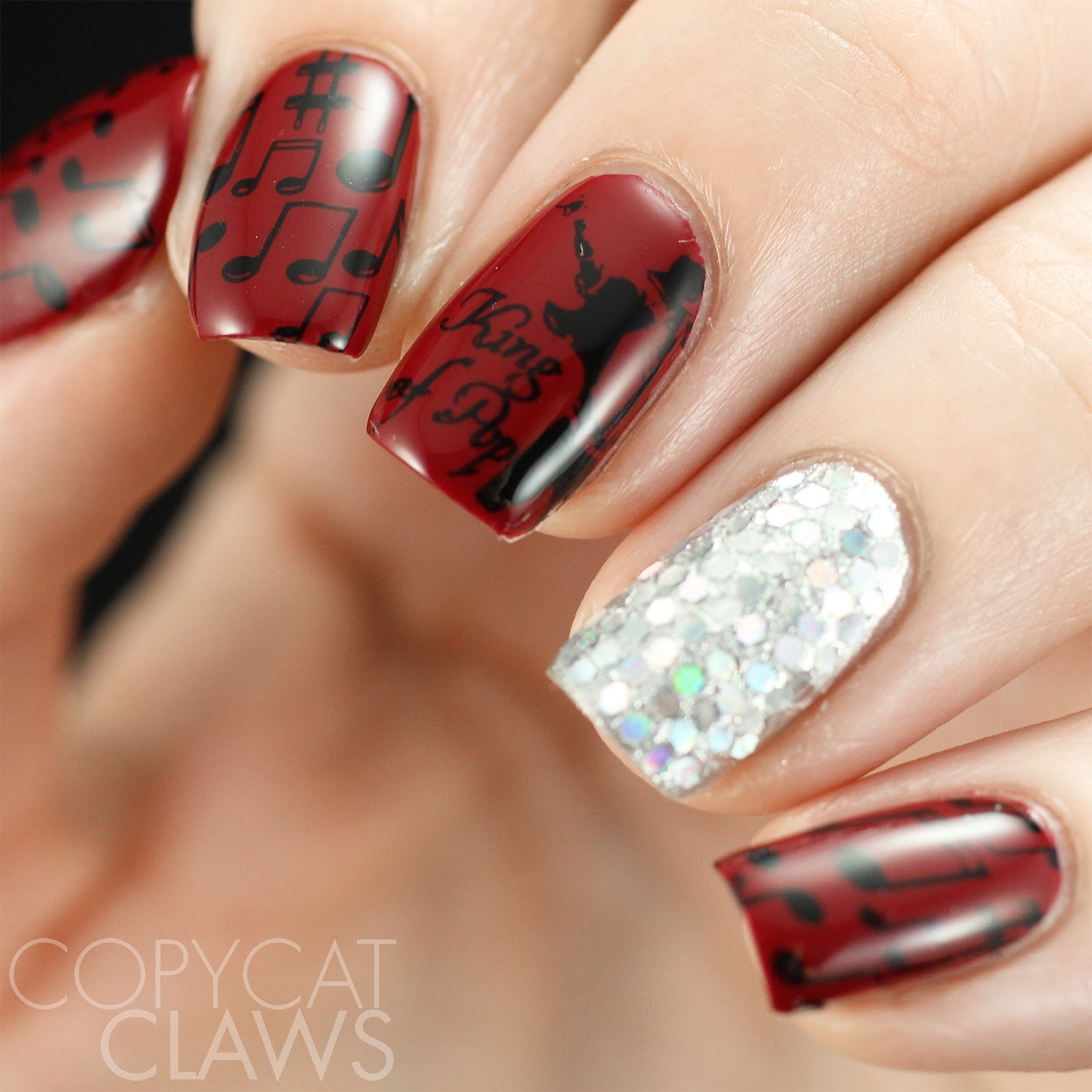 Copycat claws june 2017 michael jackson nail stamping prinsesfo Gallery