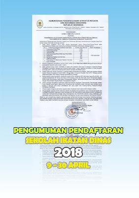 Jadwal pendaftaran penerimaan siswa baru Sekolah Tinggi Ikatan Dinas  KemenPANRB Resmi Rilis Pengumuman Jadwal Pendaftaran Sekolah Ikatan Dinas 2018 Gratis