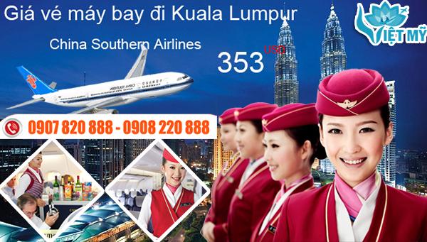 Vé máy bay đi Kuala Lumpur hãng China Southern