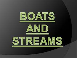 BOATS AND STREAM HAND WRITTEN NOTE WITH SOLVED EXAMPLE