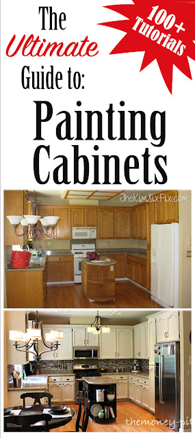 More than 100 different tutorials on how to paint your cabinets.  Sorted by paint type, sanding, priming, and more!  The BEST collection of painting tutorials available today.
