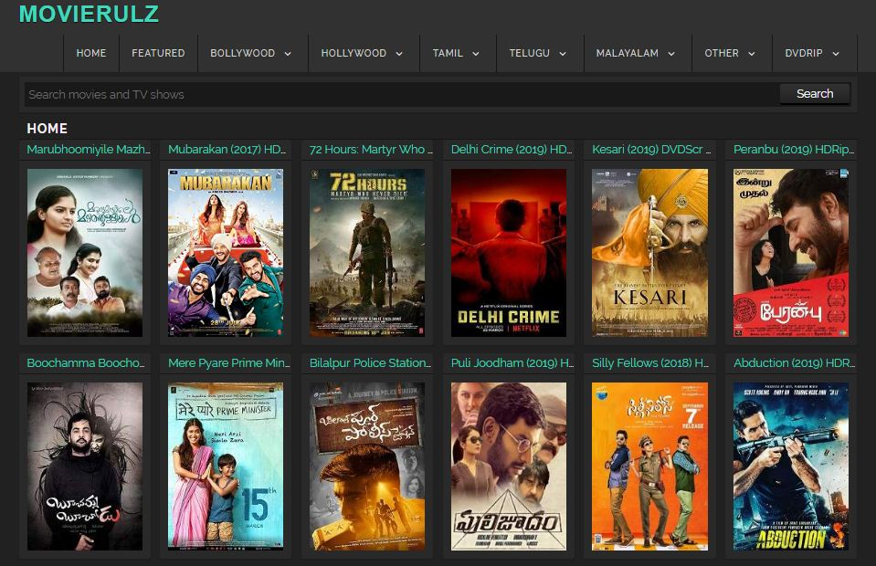 Watch All Tamil Movies Online Free In HD Quality: The Movierulz Cover Up