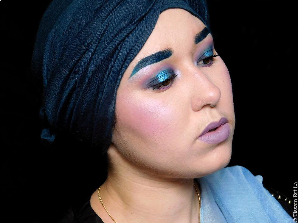 Blank Makeup Look | Nabla Cosmetics Freedomination Eyeshadow Refills, Freedomination Diva Crime Modern Matte Lipstick Reverse & 3ina Wedding Highlighting Face Palette
