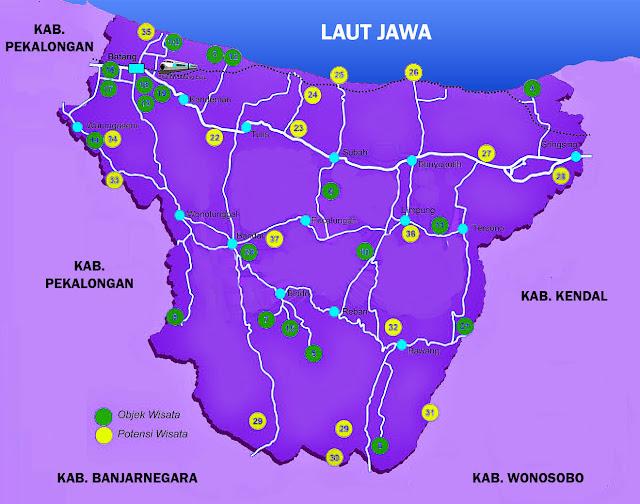 Peta Wisata Kabupaten Batang