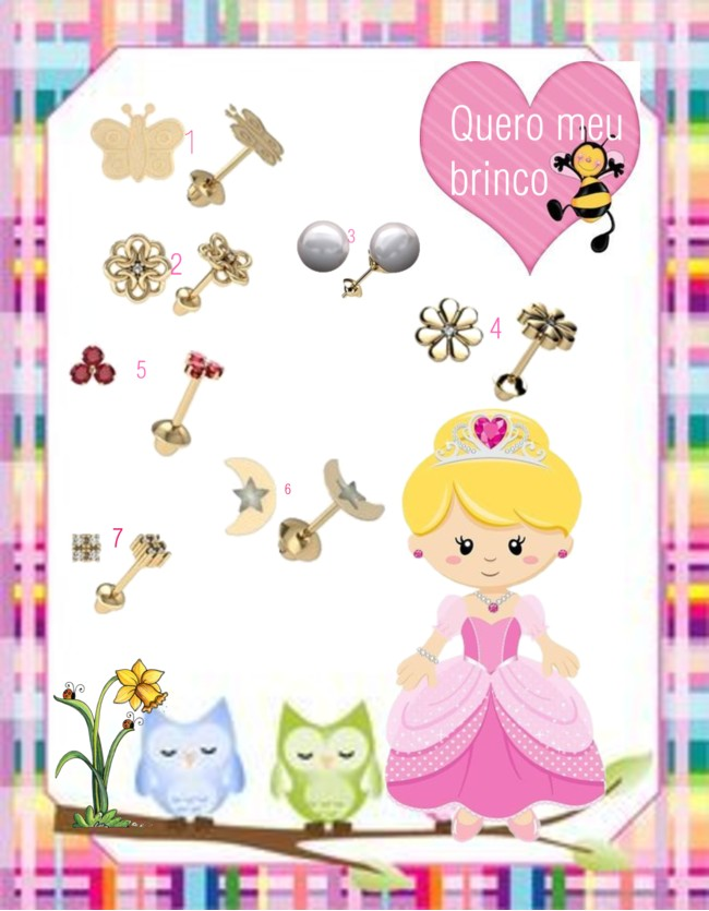 sugestão de presente, presente para criança, brinco de ouro, brinco infantil, joias, brincos, brincos infantis, brincos de ouro, joias online, joalheria,comprar brincos
