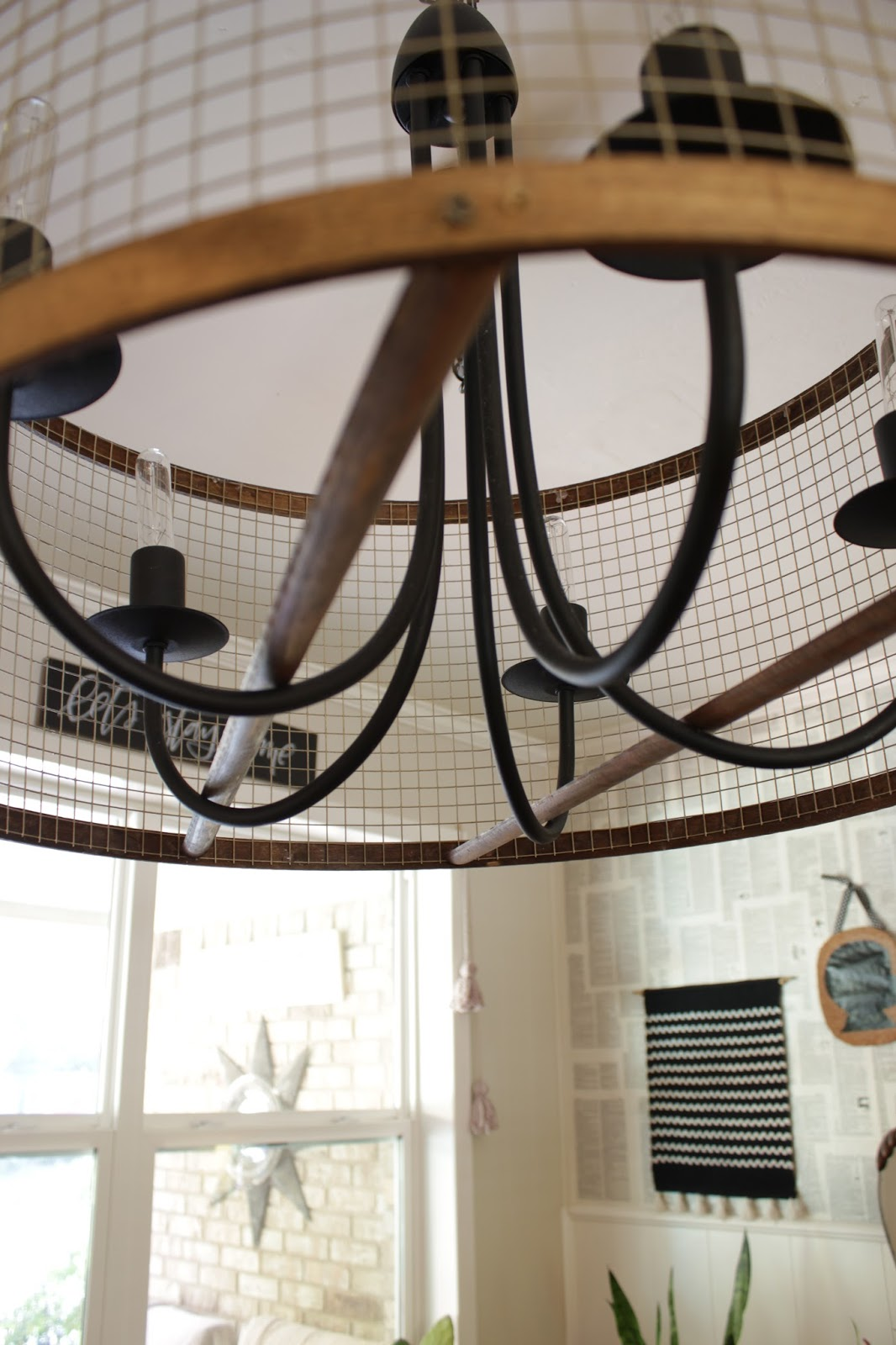 A quick tutorial for a modern chandelier update!
