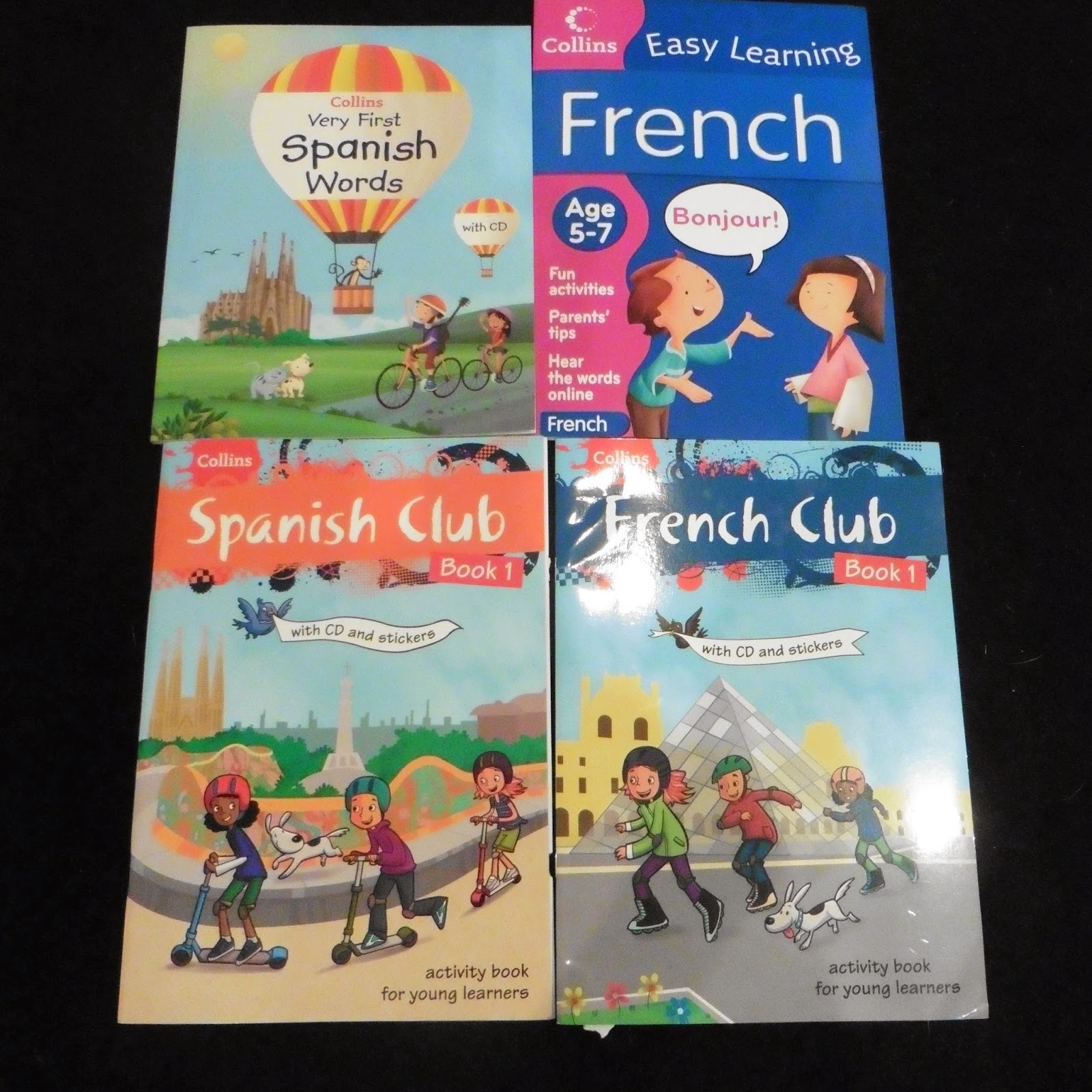 French and Spanish books