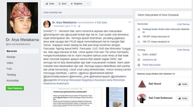 Arya Wedakarna Mengaku Tak Tahu Soal Penolakan UAS di Bali