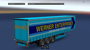 Werner Enterprises skin trailer