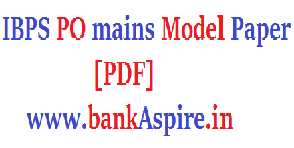 ibps-po-mains-model-question-paper-2016