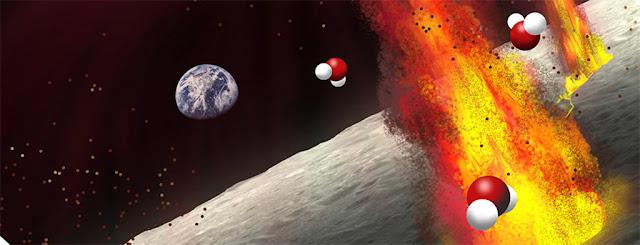 Antigos depositos vulcânicos lunares sugerem que existe uma grande quantidade de água no interior da Lua