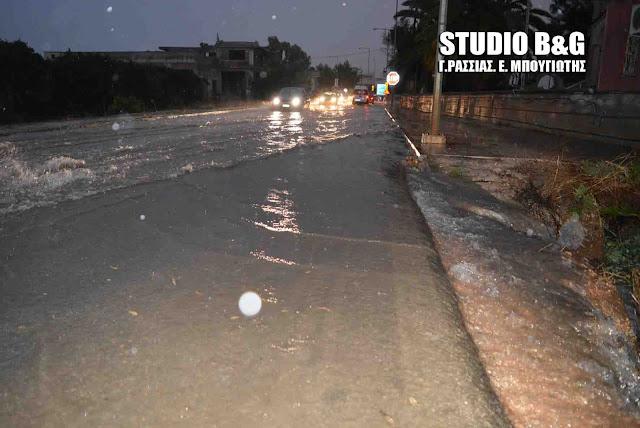Προβλήματα από την καταρρακτώδη βροχή στην Αργολίδα