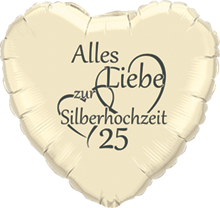 Alles Liebe zur Silberhochzeit Folien Luftballons