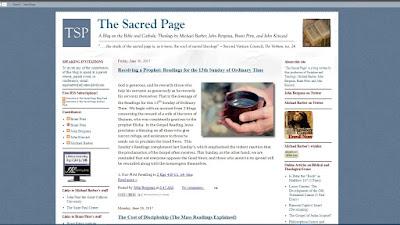 The Sacred Page Blog