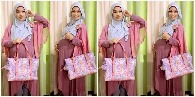 Contoh Model Baju Muslim Hamil Pesta Modern