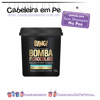 Máscara Power Hidratante Bomba de Chocolate Bang! - Tutanat (Liberada para No Poo)