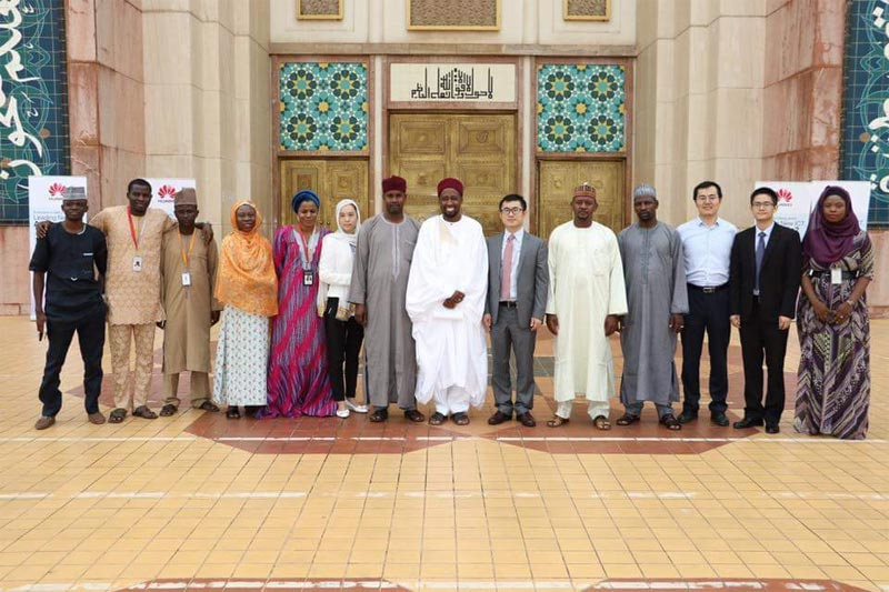 Huawei donates food items & cow crested with its logo to Abuja mosque