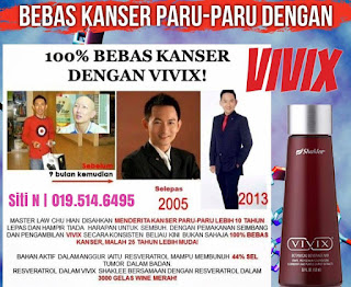 Testimoni Sembuh Kanser Payudara, Kanser Paru-Paru, Kanser Ovari Dan Kanser Kolon Dengan VIVIX