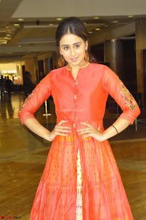 Simrat in Orange Anarkali Dress 06.JPG