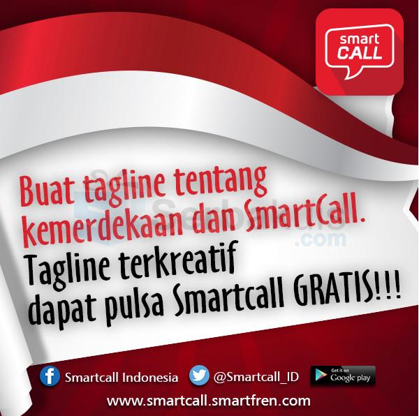 Kuis Kemerdekaan RI Berhadiah Pulsa Smartcall Total 500K