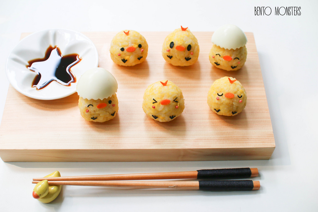 01-Chick-Sushi-Li-Ming-Lee-Kyaraben-Bento-Monsters-Themed-Lunch-Art-www-designstack-co