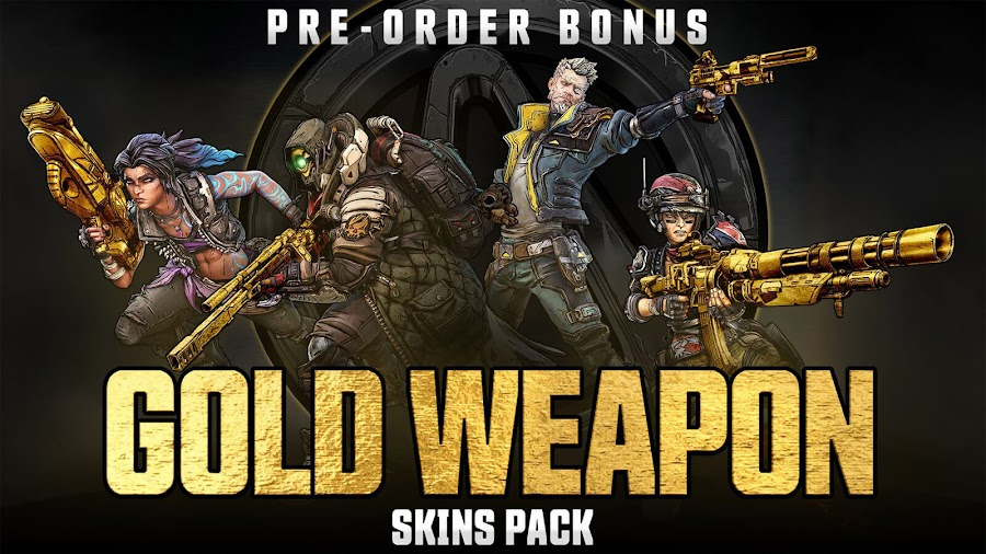 borderlands 3 gold weapon skins pack pre order bonus