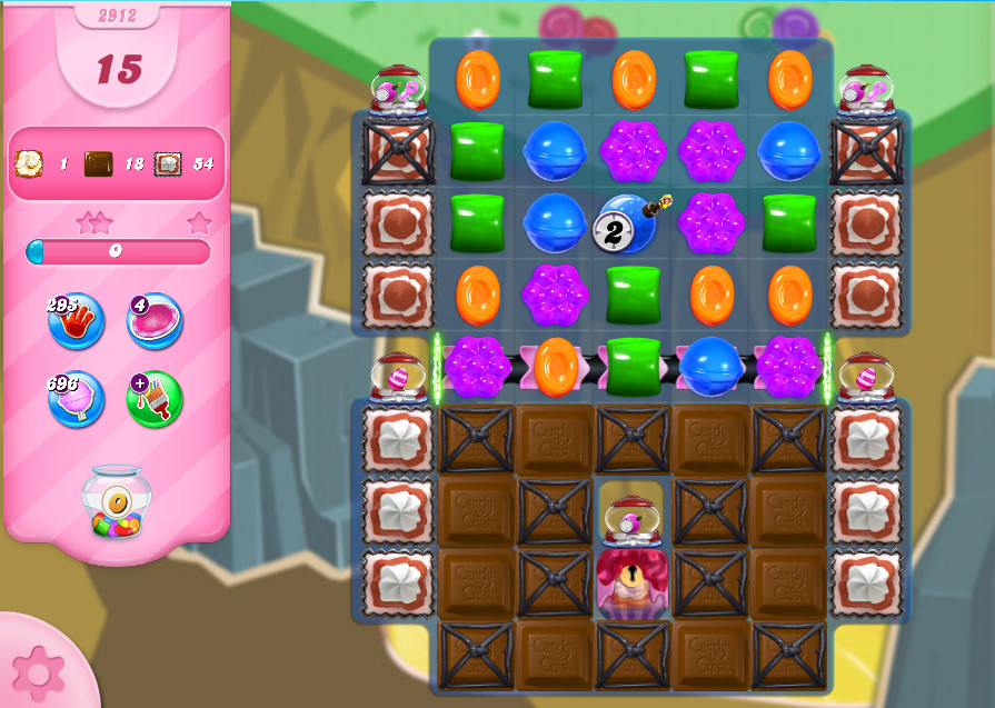 Candy Crush Saga level 2912