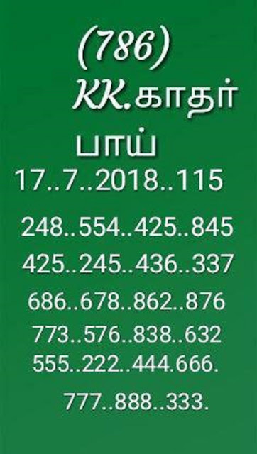 kerala lottery abc final guessing by KK sthree sakthi SS-115 17-07-2018