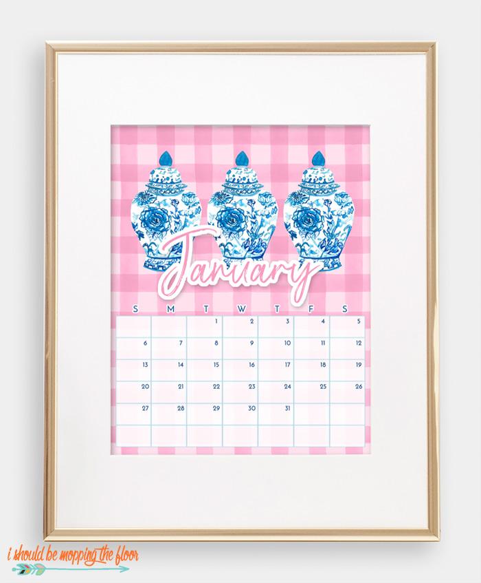 Chinoiserie Calendar