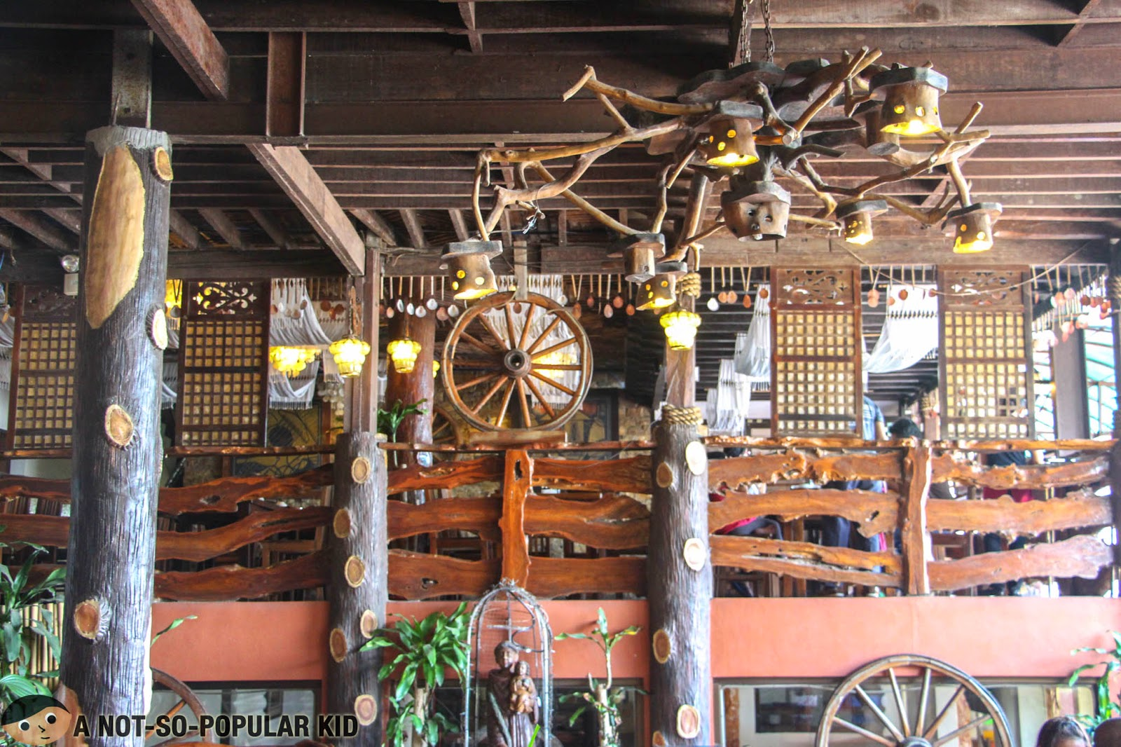 The traditional Filipino interior of RSM Lutong Bahay in Tagaytay