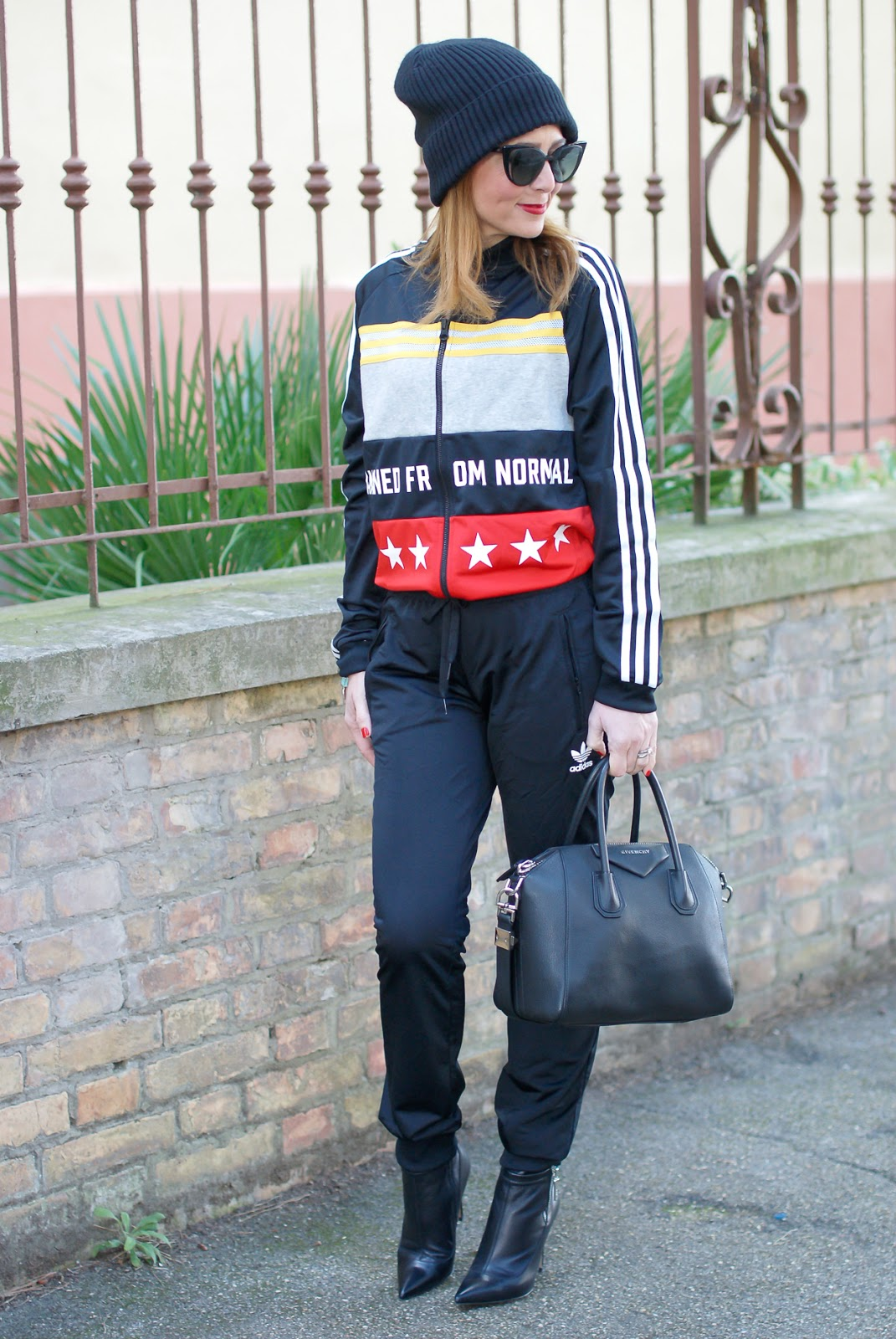 how to wear a tracksuit outside the gym, featuring Adidas Rita Ora banned from normal tracksuit on Fashion and Cookies fashion blog, fashion blogger style