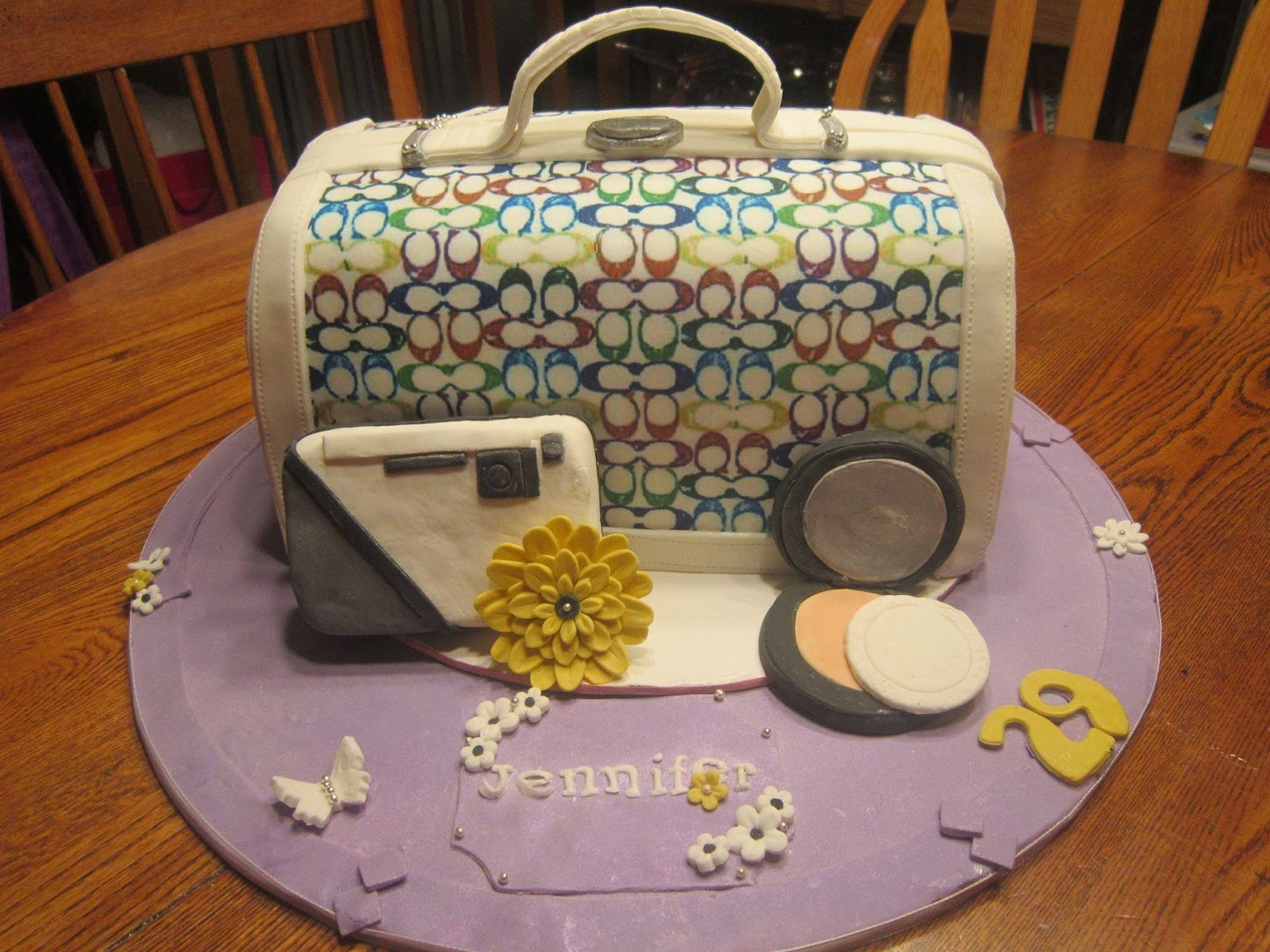Designer Handbag Coach Purse Cake