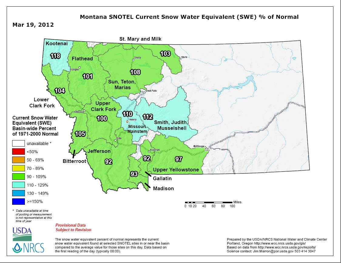 Snotel Montana Map.Streamflows And Snowpack Info A Montana Fly Fishing Blog With