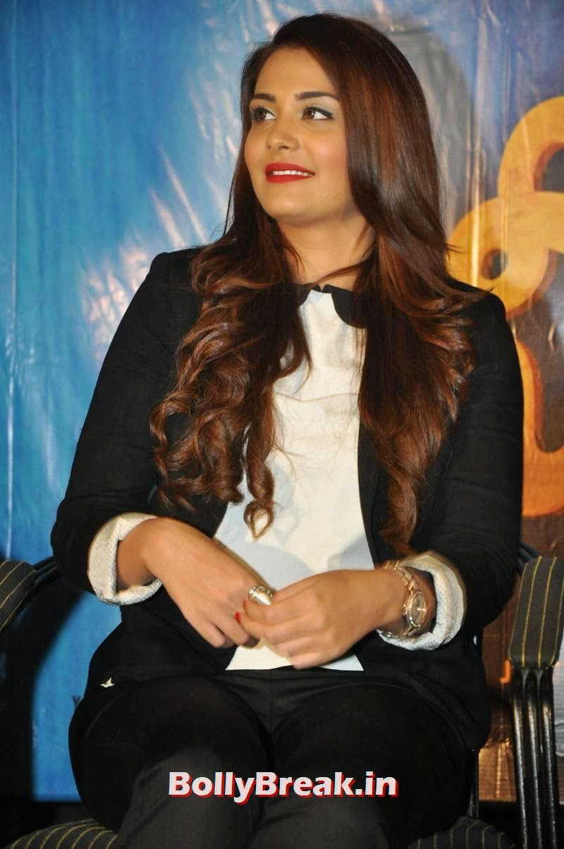 , Nazia Hussain Hot Images in Black Coat Pant at Movie Event